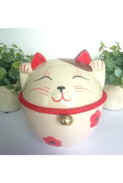 """Lucky cat"" spaarpot met belletje"