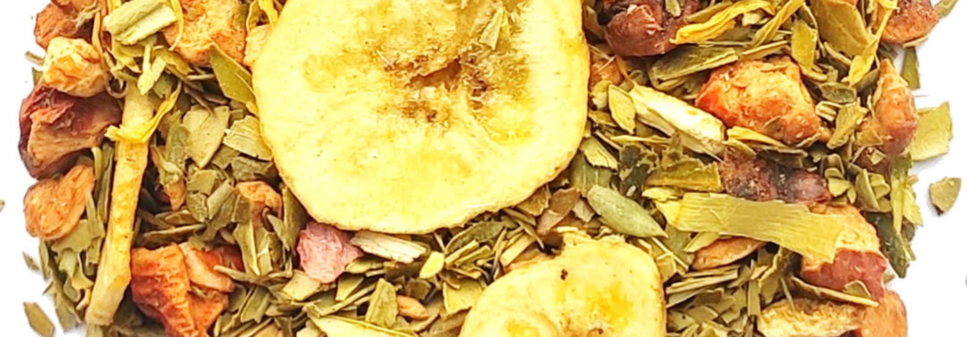 Kruidenthee: Paradijs van olijven-mango-bloedsinaasappel BIO