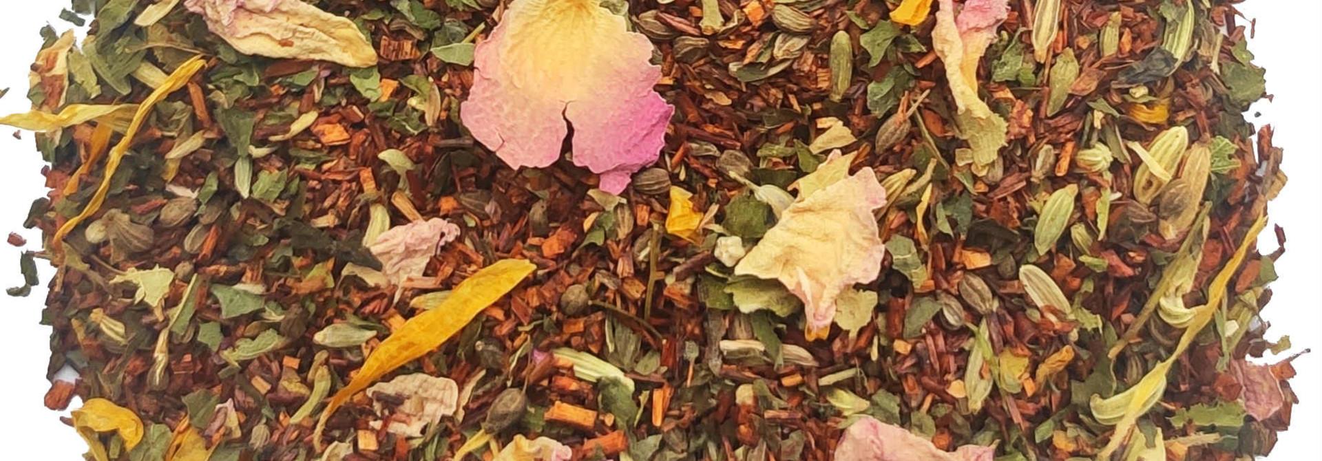 Rooibos à la Menthe et pétales de rose BIO