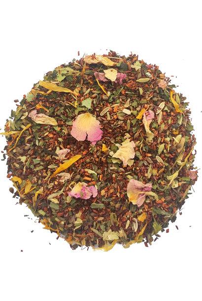 Rooibos Tee mit Minze und Rosenblättern BIO