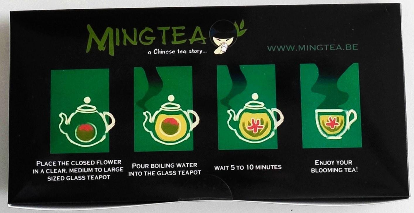 12 Teeblumen + Glas Teekanne mit Metallfilter 950ml-2