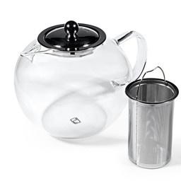 12 Teeblumen + Glas Teekanne mit Metallfilter 950ml-5
