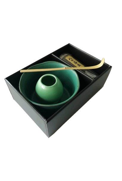 Ensemble Matcha dans un emballage de Luxe (vert)