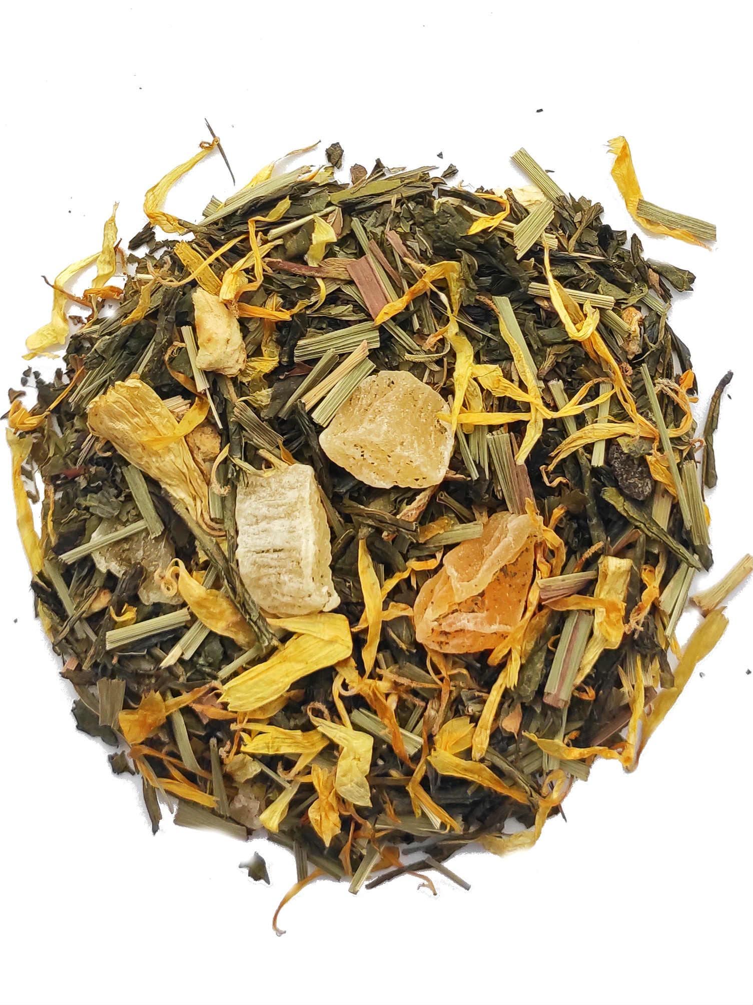 Groene thee Citroen & Perzik Natuurlijk aroma - 20 Piramide zakjes-2