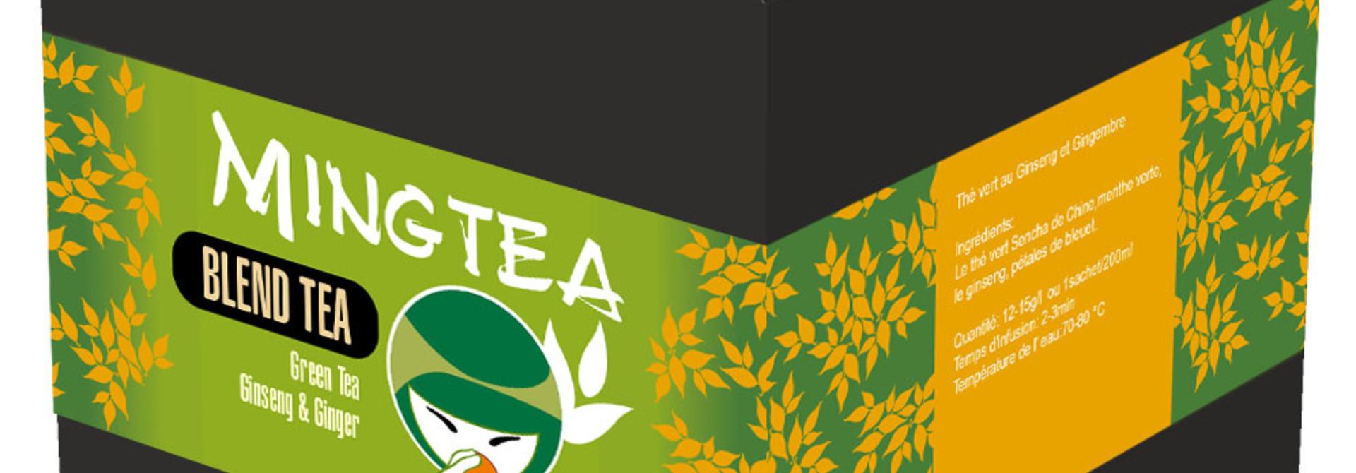 Grüner Tee Ginseng & Ginger - 20 Pyramiden beutel