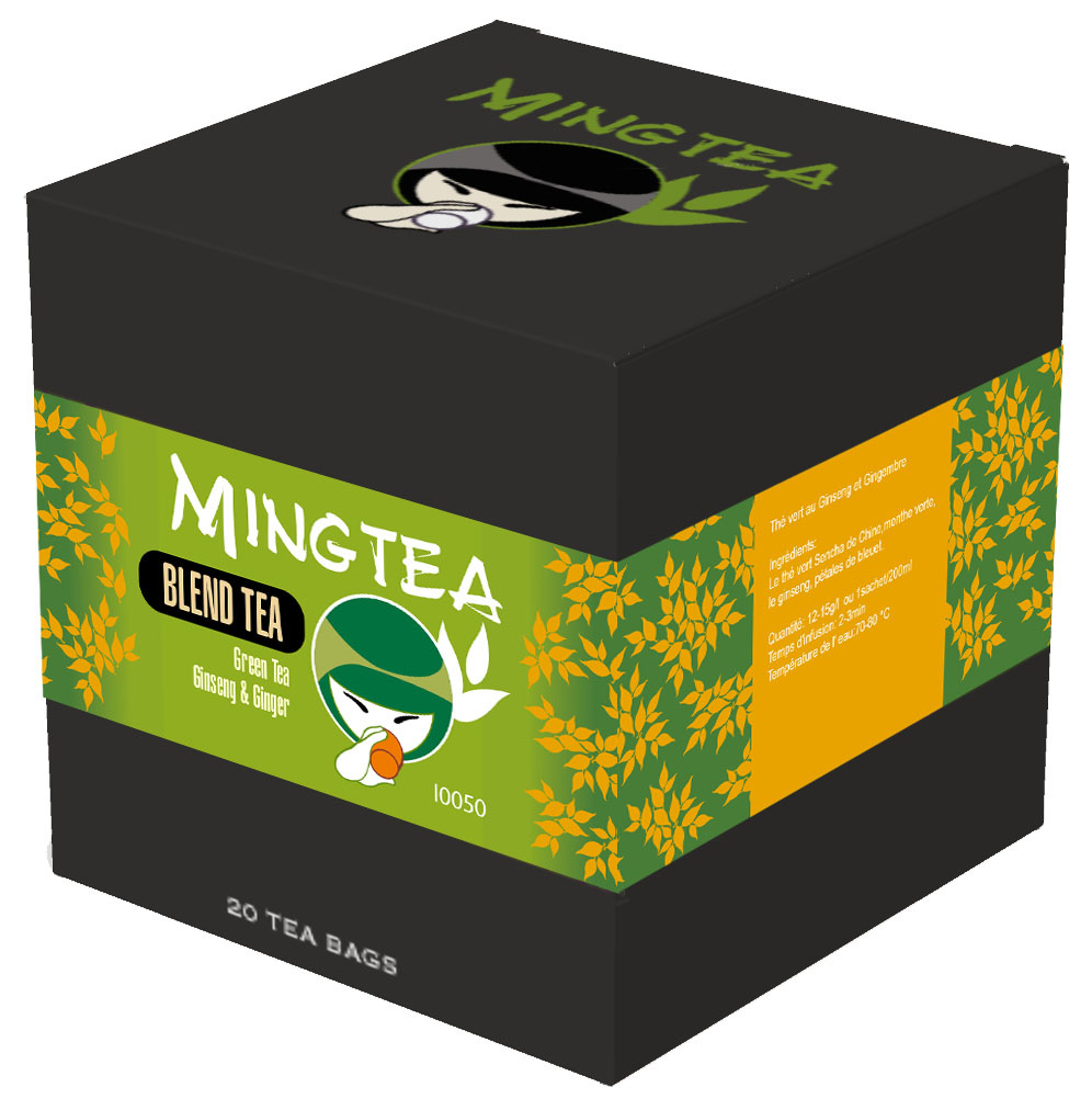 Grüner Tee Ginseng & Ginger - 20 Pyramiden beutel-1