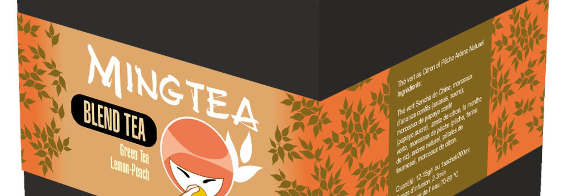 Groene thee Citroen & Perzik Natuurlijk aroma - 20 Piramide zakjes
