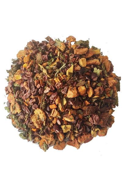 Tisane: Curcuma - Menthe - Pépites de chocolat BIO
