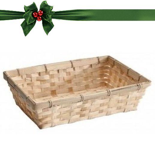 Geschenkverpackung : Rechteckiges Bambuskörbchen mit Karte-2
