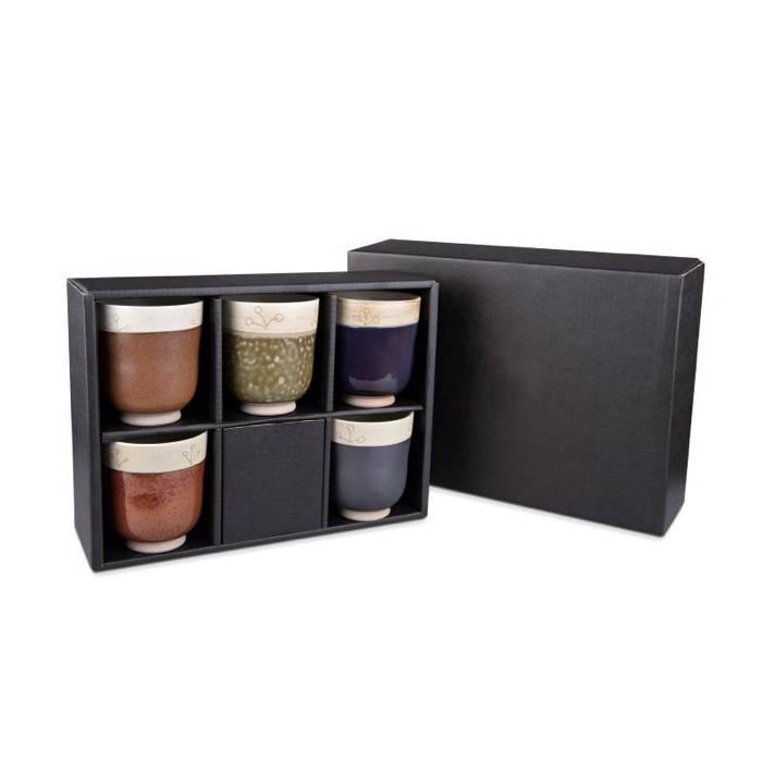 Fünf Teebecher in luxuriöser Verpackung.-1