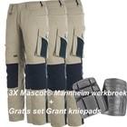 Mascot® (Set2) = 3 x Mannheim Werkbroek tweekleurig + gratis kniepads