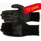 Safety Jogger® Multitask (12 Paar )  Naadloze Polyester handschoen met PU coating maten ( 8-M ) en ( 10-XL )