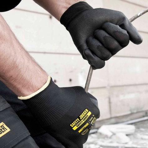 Safety Jogger® Multitask Naadloze Polyester handschoen met PU coating Leverbaar in de maten ( 8-M ) en ( 10-XL )