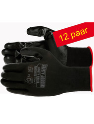 Safety Jogger® Superpro (12 Paar )  Naadloze Polyester handschoen met Nitrile coating maten ( 7-S ) en ( 10-XL )