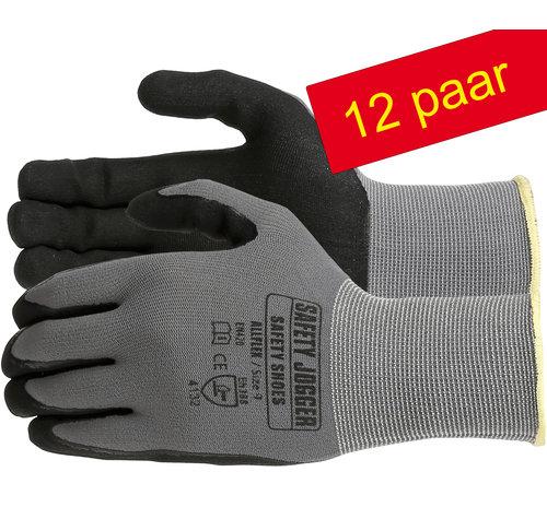 Safety Jogger® Allflex 12 Paar Nylon-spandex Liner met microfoamnitrile coating ( M ) en ( XL )