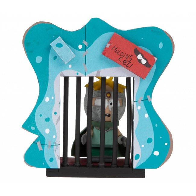 """McFarlane South Park Micro Construction Set - """"Professor Chaos"""" Butters with Holding Cell"""