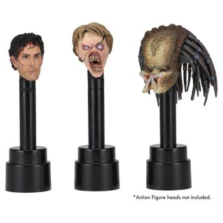 NECA  NECA Action Figure Head Display Stands black (3)