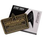 Star Trek U.S.S. Franklin NX-326 Dedication Plague