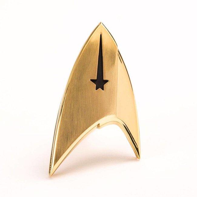 Quantum Mechanix Star Trek Discovery Replica 1/1 Magnetic Starfleet Command Division Badge