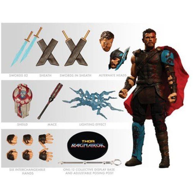 Mezco Toys Thor Ragnarok Action Figure 1/12 Thor 16 cm