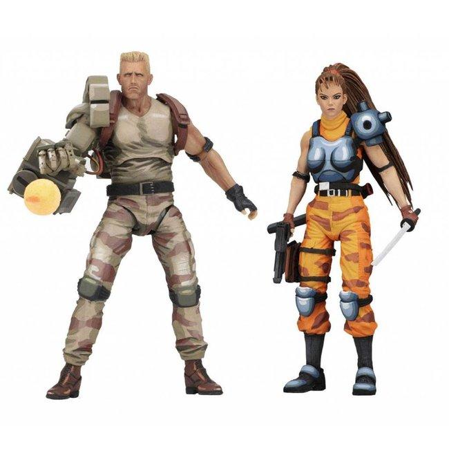 Alien vs. Predator 1994 Action Figure 2-Pack Dutch & Linn 18 cm