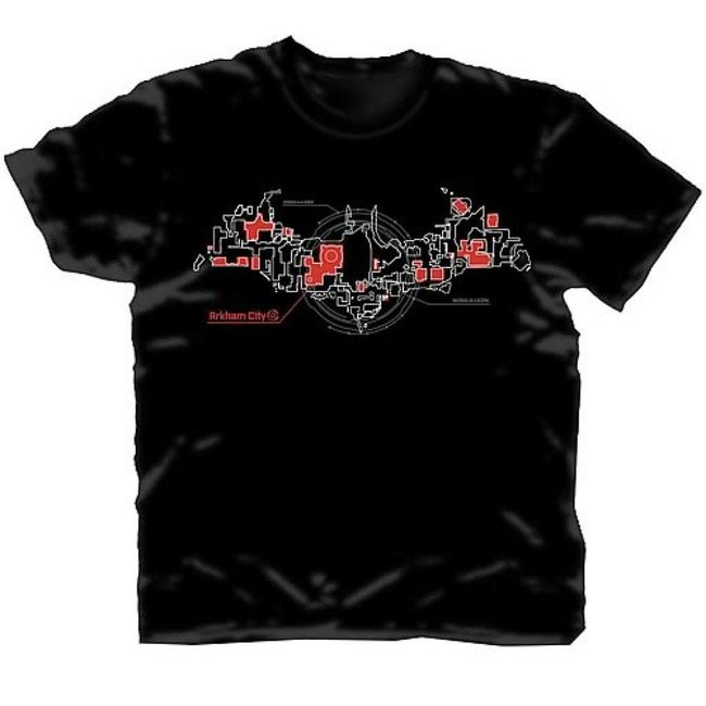 Arkham City T/S Skematic Bat Logo PX