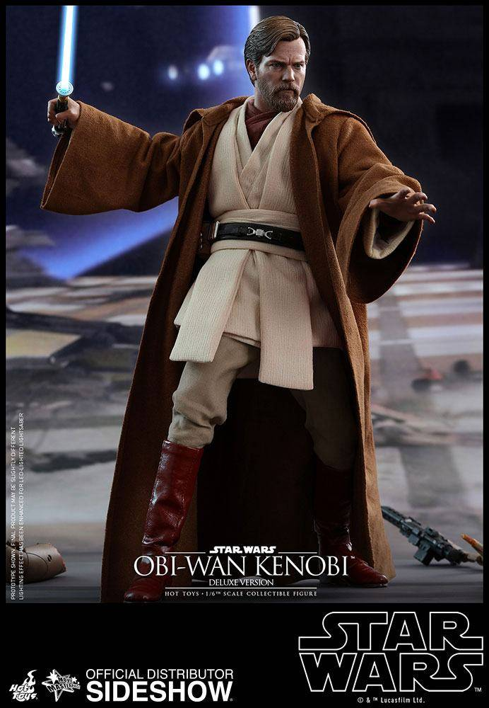 04200538ab7 Star Wars Episode III Movie Masterpiece Action Figure 1/6 Obi-Wan Kenobi  Deluxe Version 30 cm
