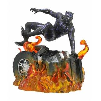 Diamond Select Toys Black Panther Marvel Movie Gallery PVC Statue Black Panther Version 2