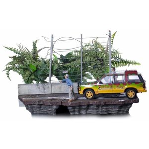 Jurassic Park Art Scale Diorama 1/10 T-Rex Attack Set B 57 cm