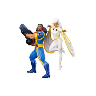 Marvel Universe ARTFX+ Statue 1/10 2-Pack Bishop & Storm (X-Men '92) 20 cm