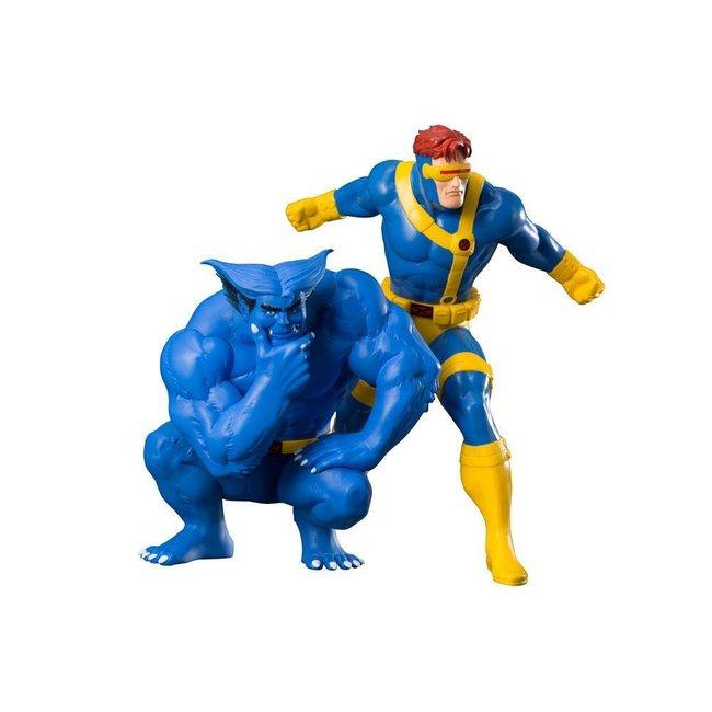 Kotobukiya  Marvel Universe ARTFX+ Statue 1/10 2-Pack Cyclops & Beast (X-Men '92) 16 cm