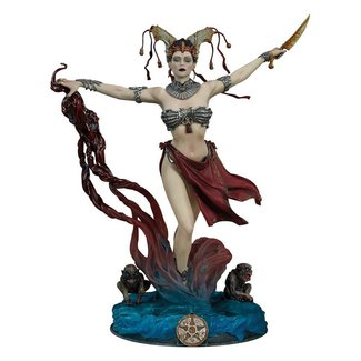 Sideshow Collectibles Court of the Dead PVC Statue Gethsemoni - Queens Conjuring 25 cm