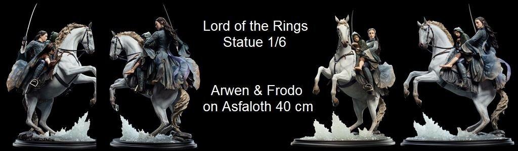 Arwen & Frodo on Asfaloth 40 cm