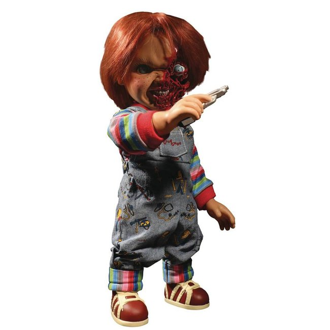 Mezco Toys Child´s Play 3 Designer Series Talking Pizza Face Chucky 38 cm