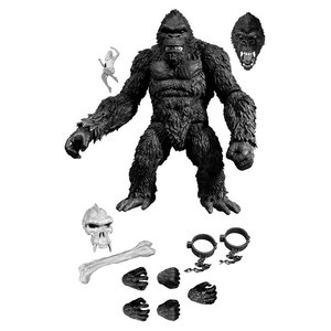 King Kong Action Figure King Kong of Skull Island Previews Exclusive Black & White Version 18 cm