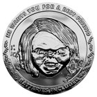Child's Play Collectable Coin 25th Anniversary Chucky (silver plated)