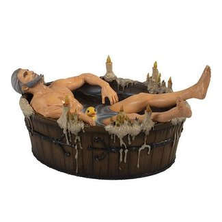 Dark Horse Comics The Witcher 3 Wild Hunt Statue Geralt in the Bath 9 cm