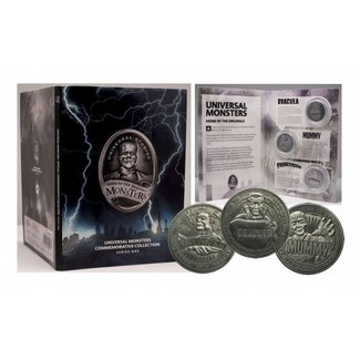 FaNaTtik Universal Monsters Commemorative Collection Collectable Coin 3-Pack Series 1