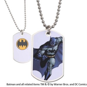 Batman Dog Tag White Logo