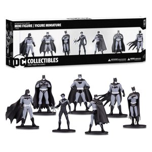 Batman Black & White PVC Minifigure 7-Pack Box Set #1 10 cm