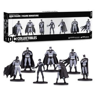 DC Collectibles Batman Black & White PVC Minifigure 7-Pack Box Set #1 10 cm