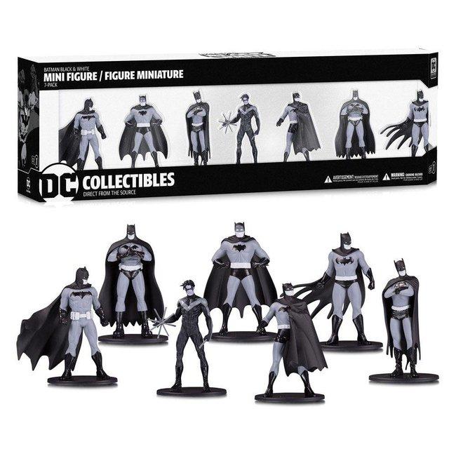 DC Collectibles Batman Black & White PVC Minifigure 7-Pack Box Set #1 10 cm