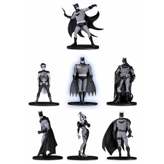 DC Collectibles Batman Black & White PVC Minifigure 7-Pack Box Set #2 10 cm