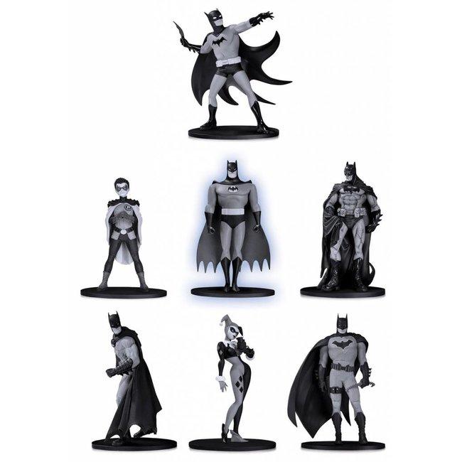 DC Collectibles Batman Black & White PVC Minifigure 7-Pack Box Set #2 10 cm