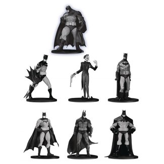 DC Collectibles Batman Black & White PVC Minifigure 7-Pack Box Set #3