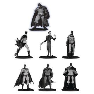 DC Collectibles Batman Black & White PVC Minifigure 7-Pack Box Set #3