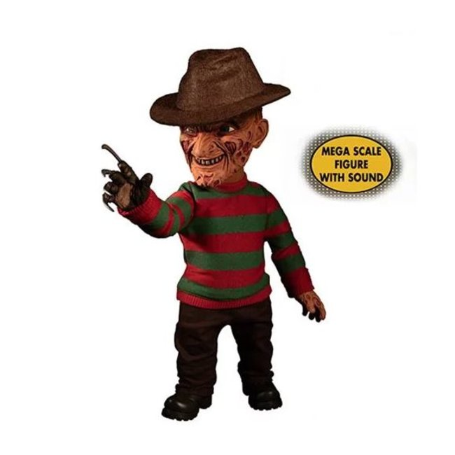 Mezco Toys Nightmare On Elm Street Mega Scale Talking Action Figure Freddy Krueger 38 cm