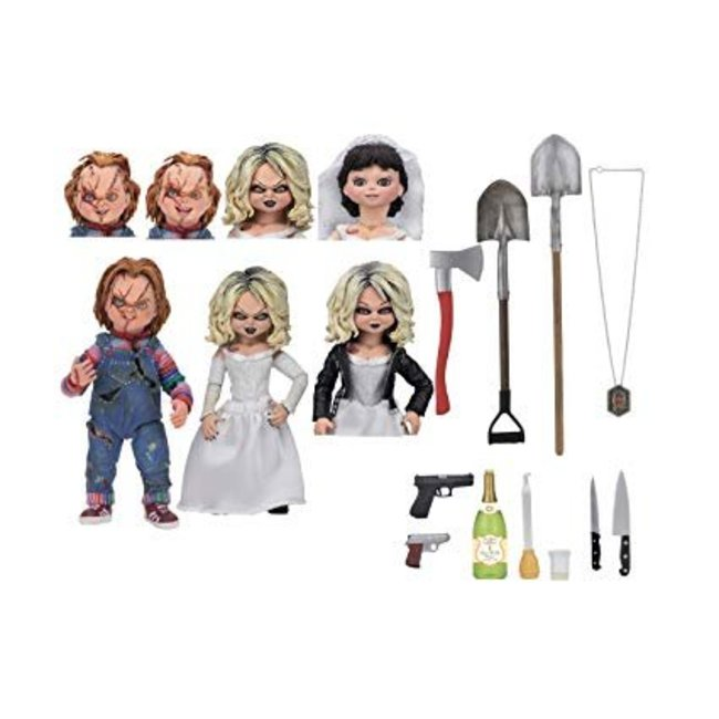 NECA  Bride of Chucky Ultimate Action Figure 2-Pack Chucky & Tiffany 10 cm