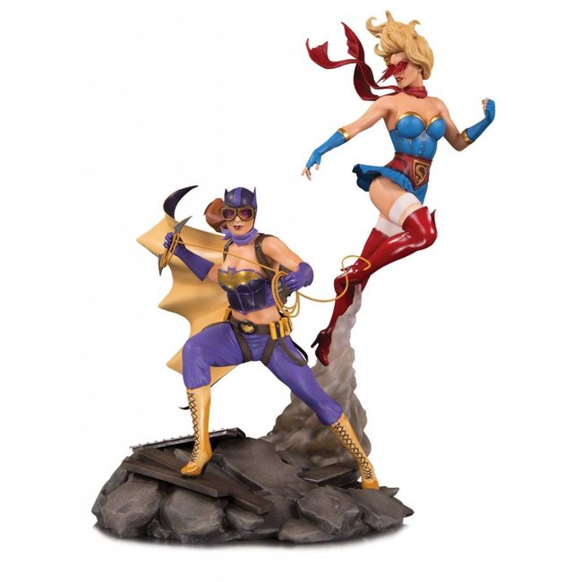 DC Collectibles DC Bombshells Statue Batgirl & Supergirl Celebration 38 cm