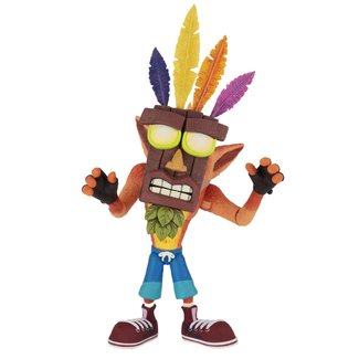 NECA  Crash Bandicoot Ultra Deluxe Action Figure Crash with Aku Aku Mask 14 cm